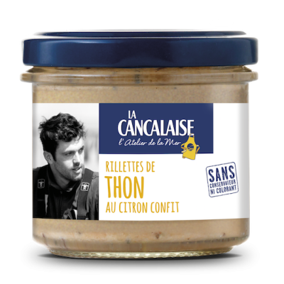 La Cancalaise - Rillettes de thon au citron confit - 100g