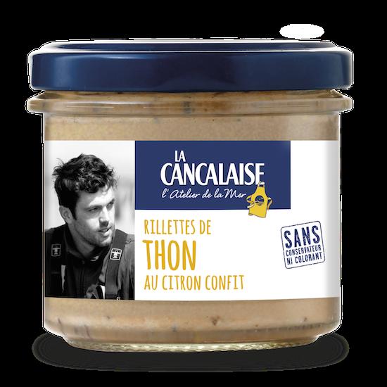 rillettes de thon au citron confit