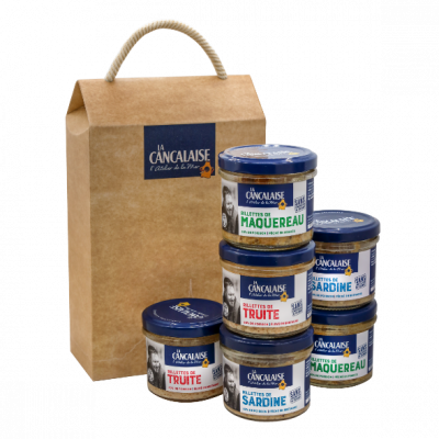 La Cancalaise - coffret de 6 rillettes natures